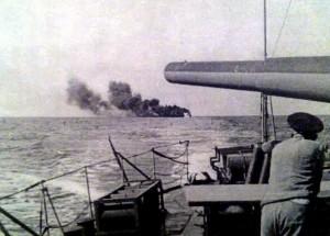 29 Mai 1942 Momentul scufundarii navei Sulina