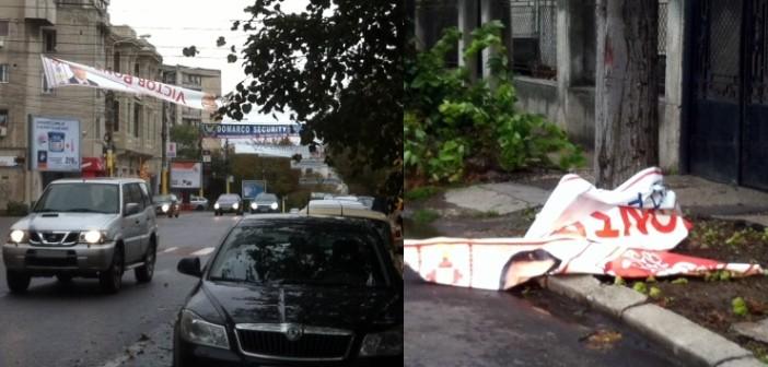 Vântul, agent electoral? La Constanța cad bannerele lui Ponta. Iohannis rămâne pe poziție. Coincidență sau sabotaj?