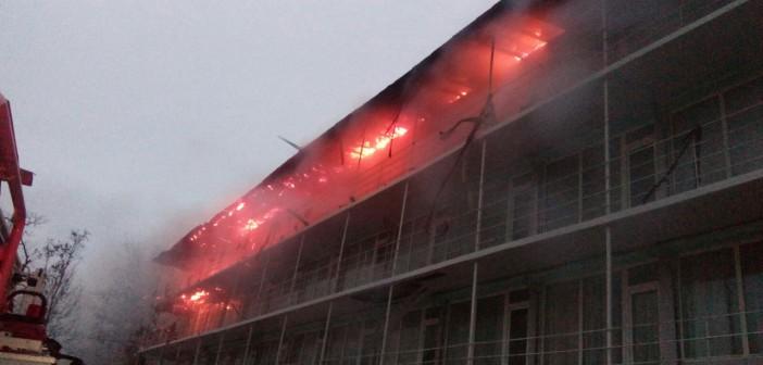 Arde hotelul lui Bosânceanu din Mamaia