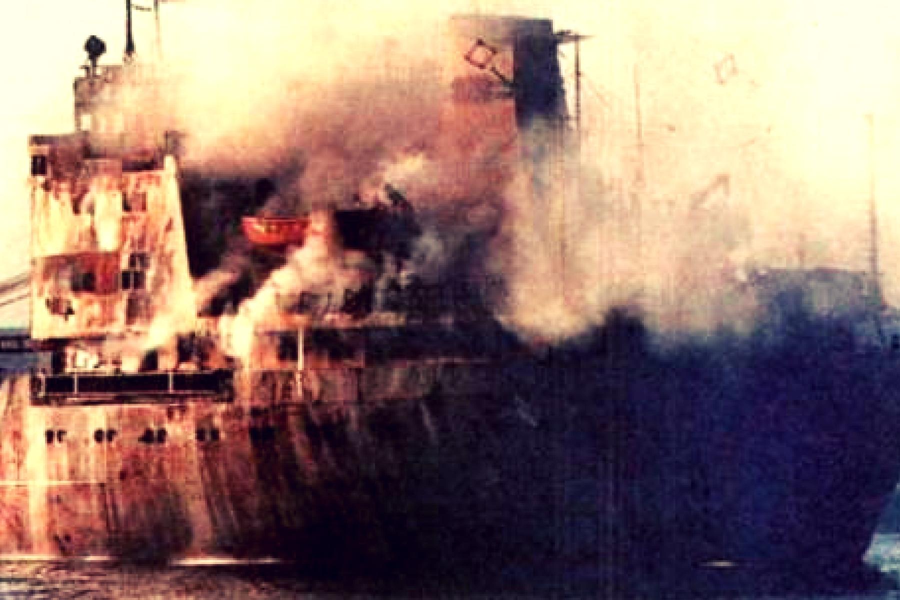 23.11.1987 - Cargoul FUNDULEA dupa momentul atacului