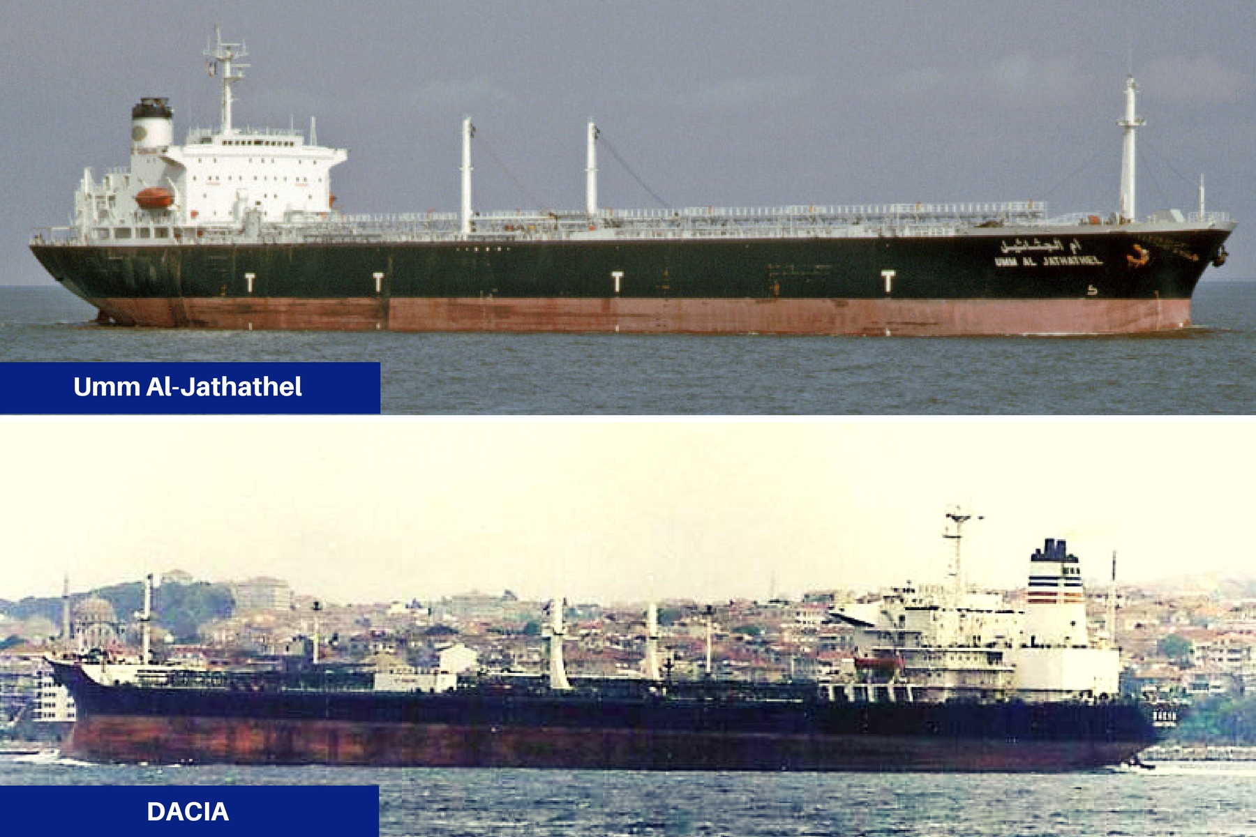 Tancurile petroliere Umm Al-Jathathel si DACIA