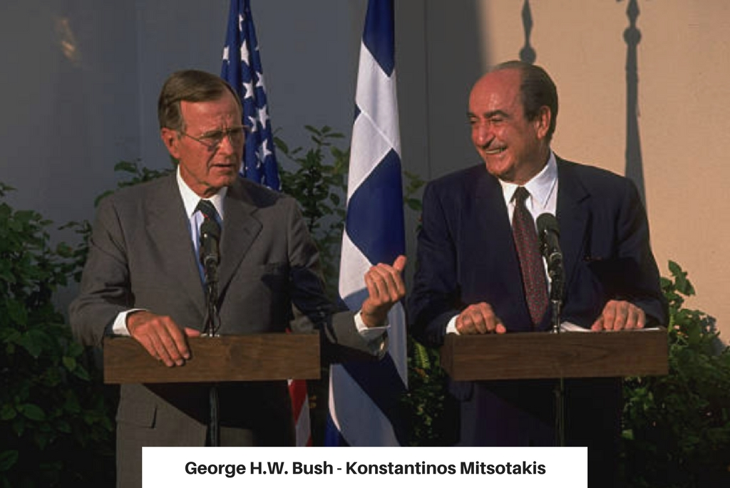 Georghe HW Bush - Konstantinos Mitsotakis