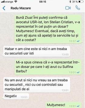 Răspuns RADU ȘTEFAN MAZĂRE