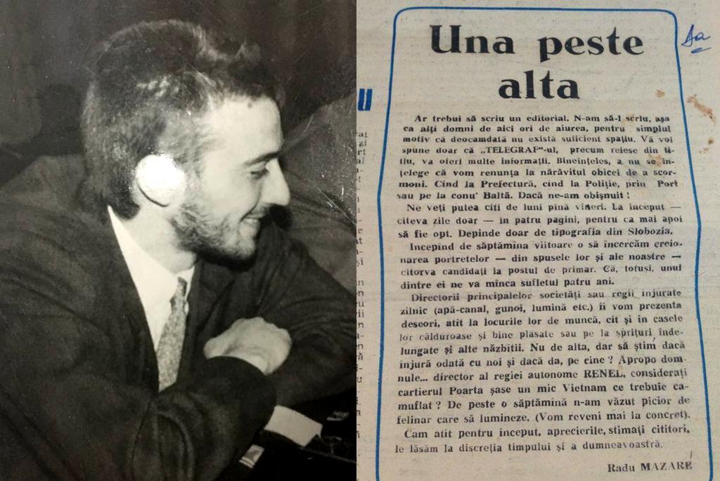 Primul articol din ziarul TELEGRAF de Constanta semnat de Radu Mazare