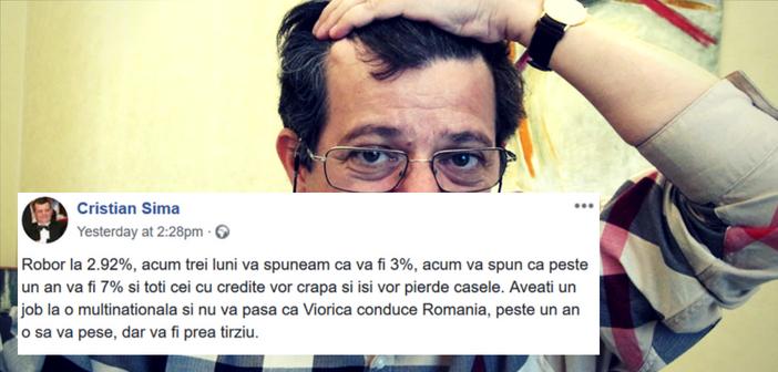 Cristian Sima alias brokerul fugar - sursa FB