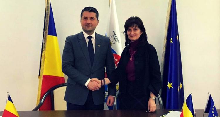 DECEBAL FĂGĂDĂU, primarul Constanței alături de VENERA VLAD, director BERD