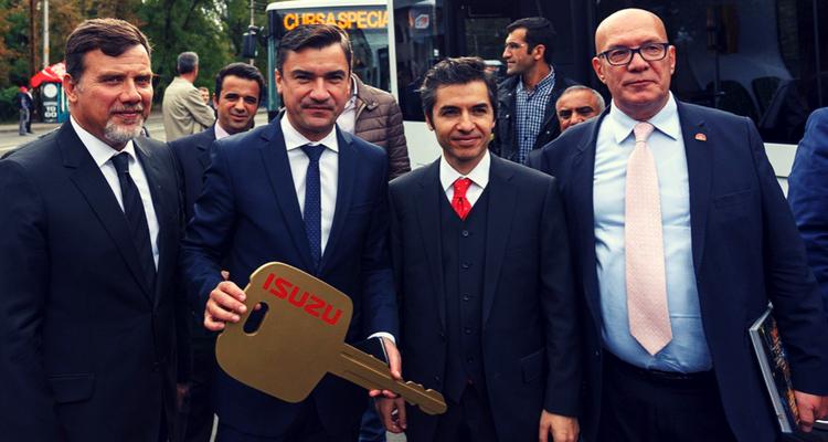 Primarul MIHAI CHIRICA alături de Osman Koray Ertas, Ambasadorul Republicii Turcia în Romania.