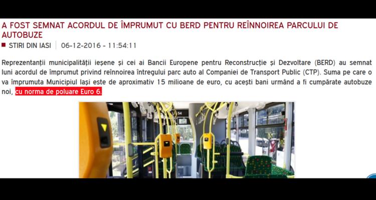 Site-ul PRIMARIEI IASI - 06.12.2016