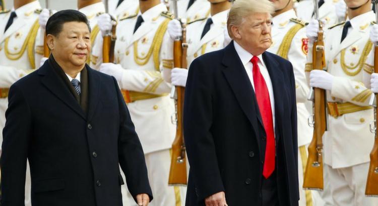 Trump alaturi de președintele chinez Xi Jinping