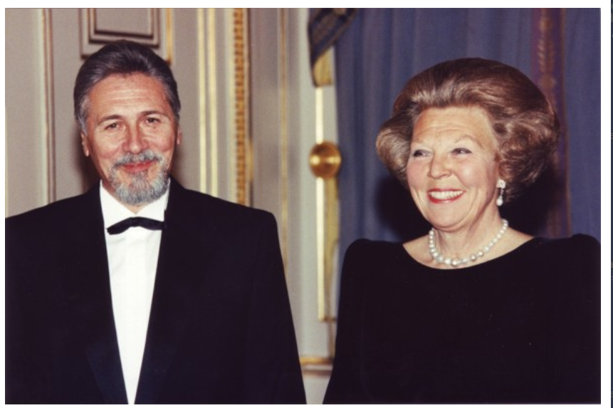 Emil Constantinescu si Majestatea Sa Regina Beatrix