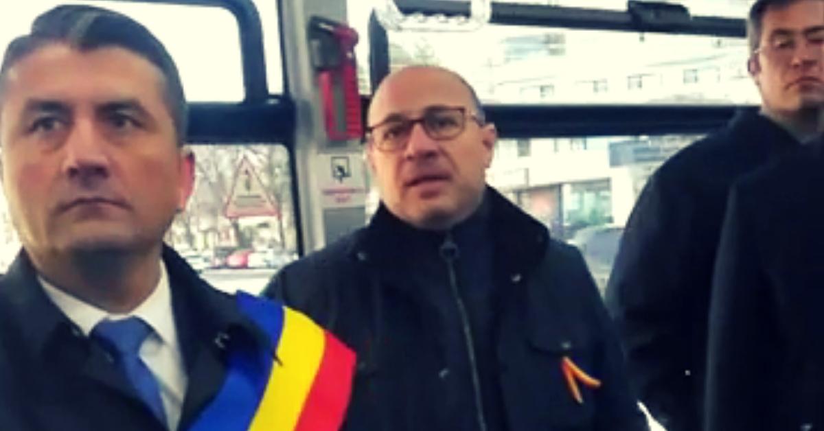 Decebal Făgădău și directorul RATC, Bogdan Niță - 1 Decembrie 2018