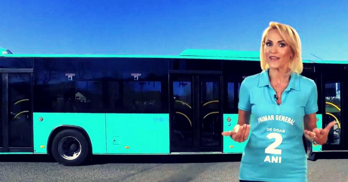 Gabriela Firea se laudă cu noile autobuze turcești
