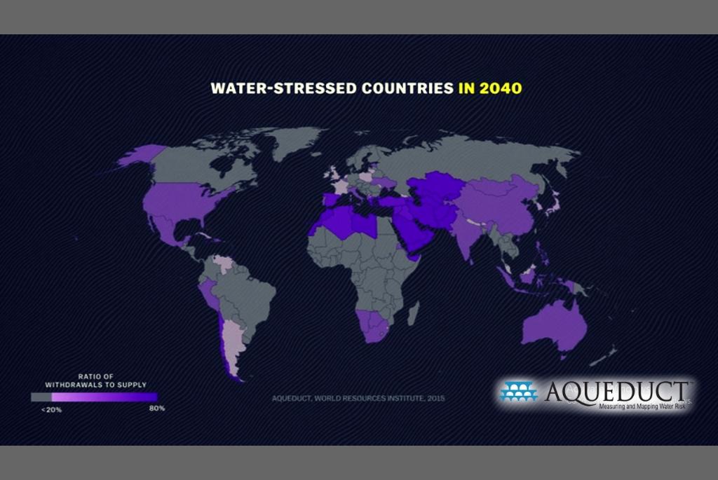 Criza de apă de peste 20 de ani - Sursa Institutul Mondial al Resurselor Naturale - 2015