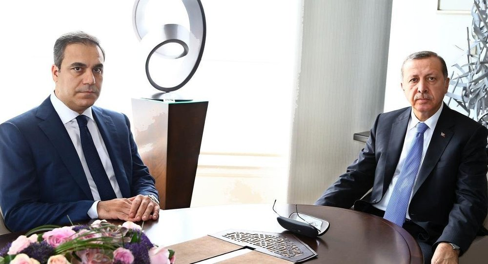 Presedintele Recep T. Erdogan si Hakan Fidan seful MIT