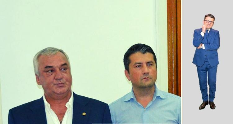 Primarul Decebal Făgădău și afaceristul Florin Cârstocea
