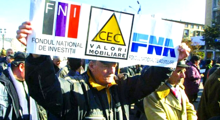 Protest al păgubiților FNI