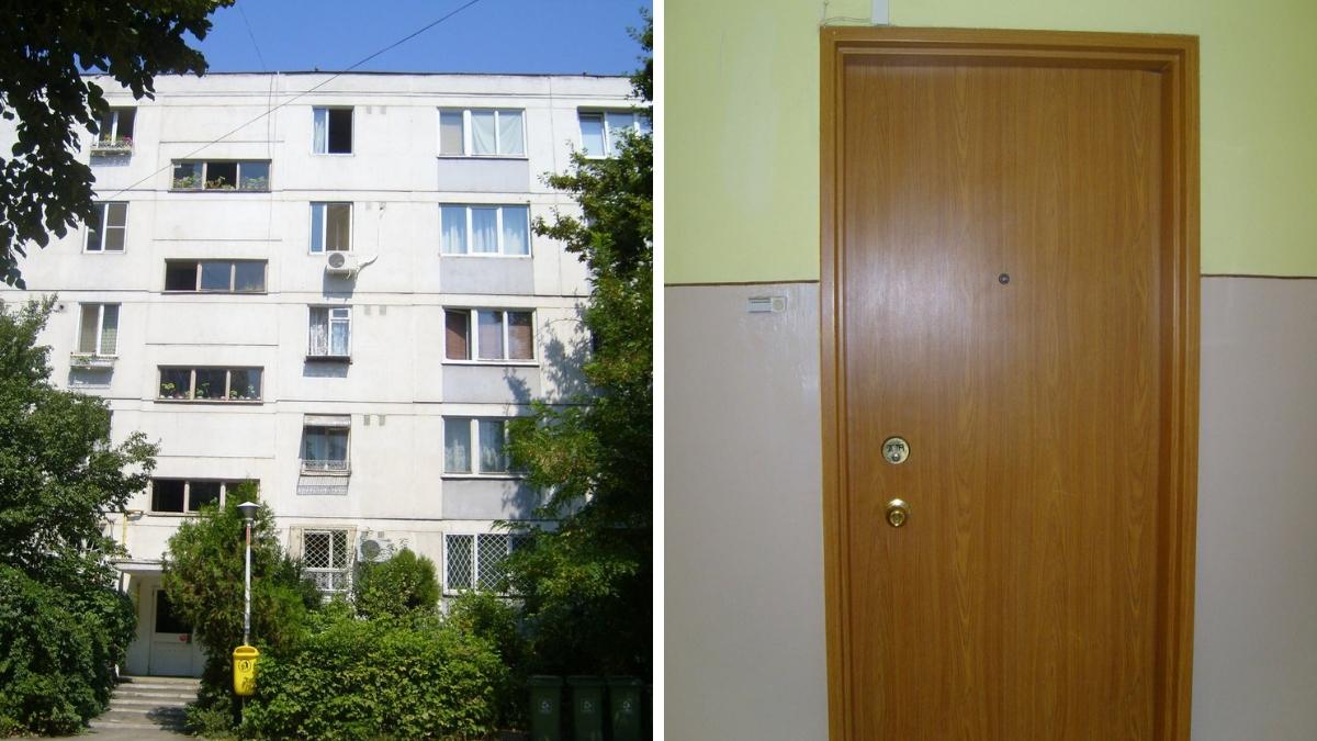 Ușa apartamentului familie Mazăre din București