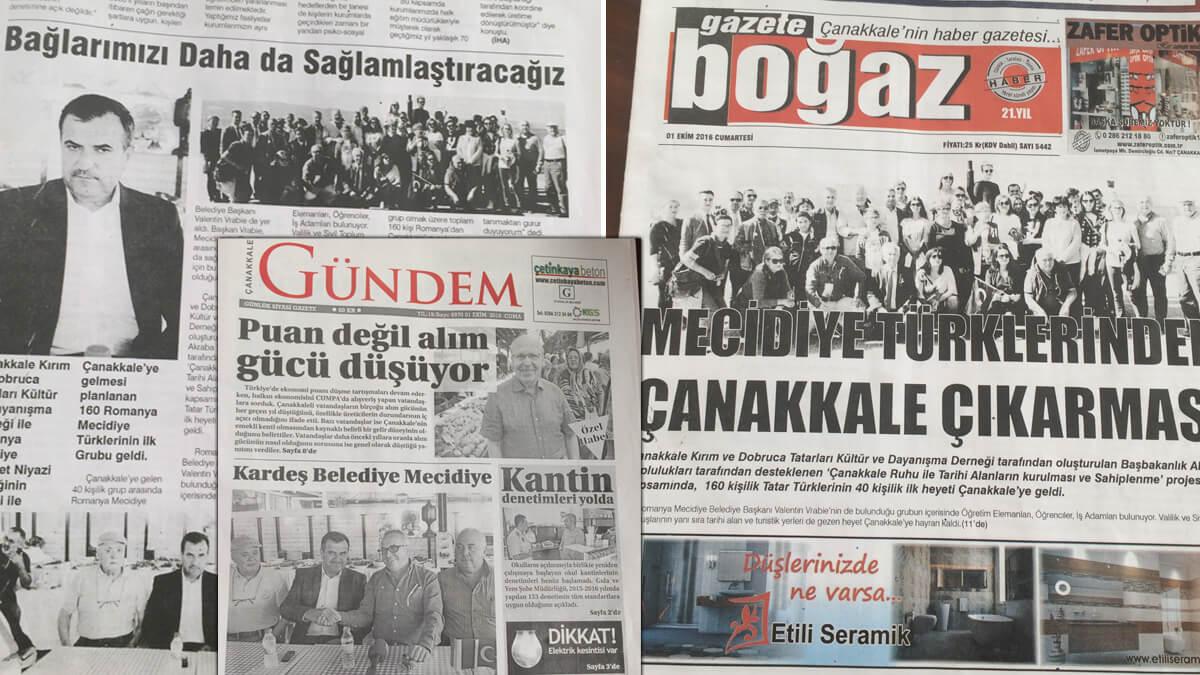 Primarul Vrabie in presa turcă
