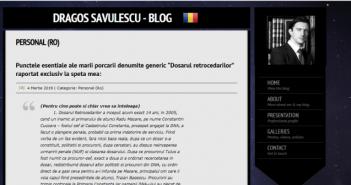 Dragos Savulescu - Blog