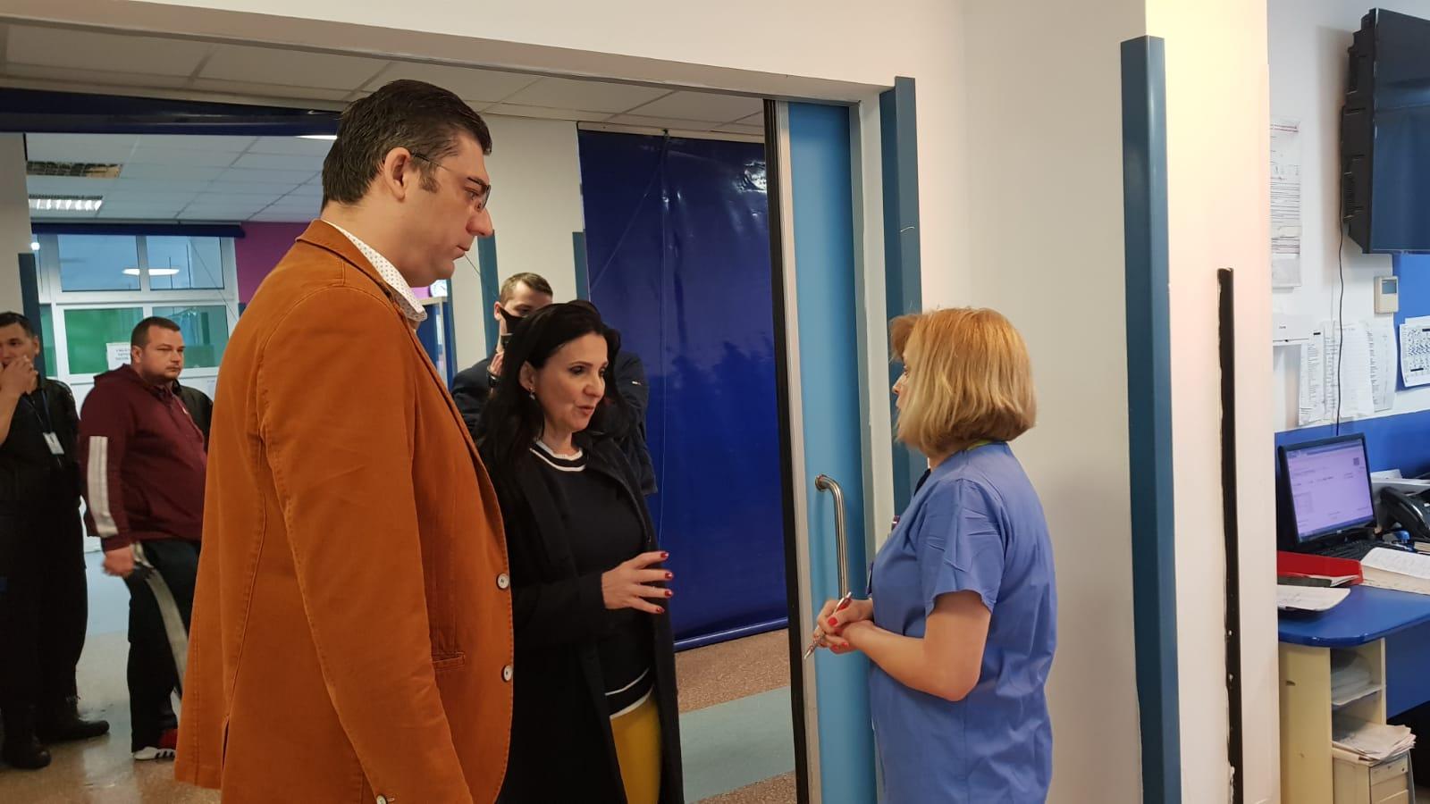 Ministrul Sănătății Sorina Pintea - control Spitalul Jud. Constanța
