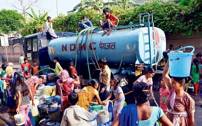 Cisternă cu apă în Bangalore