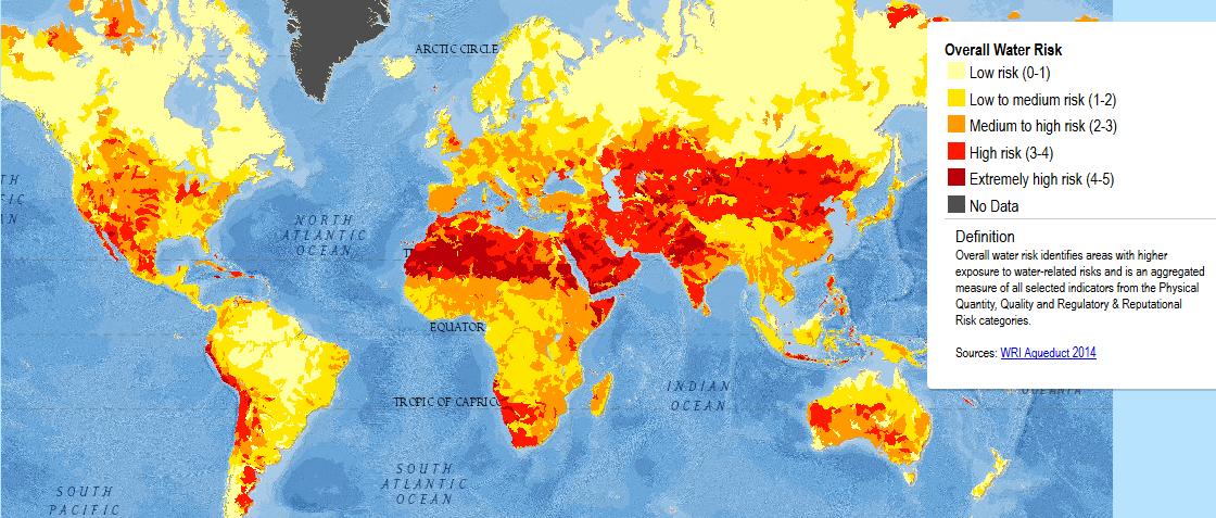 Atlasul zonelor cu risc ridicat privind lipsa apei