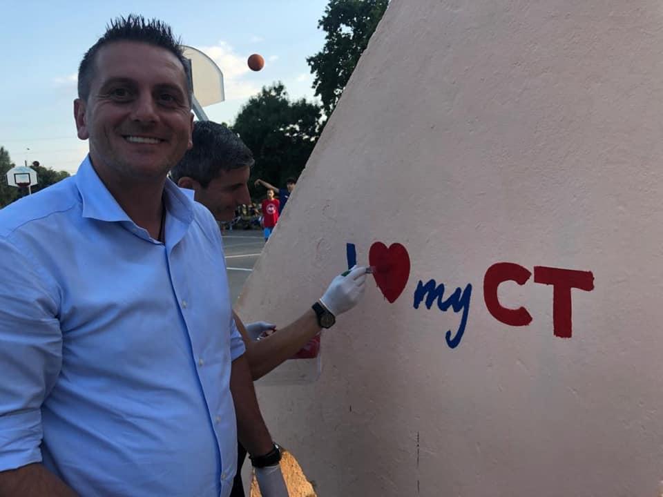 Viceprimarul Dumitru Babu și deputatul PSD, George Gabriel Vișan - I LOVE my CT în Poarta 6