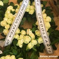 Imprimata  mesaj banda funerara