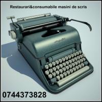 Restaurari&consumabile masini de scris, cu executie si livrare rapida.